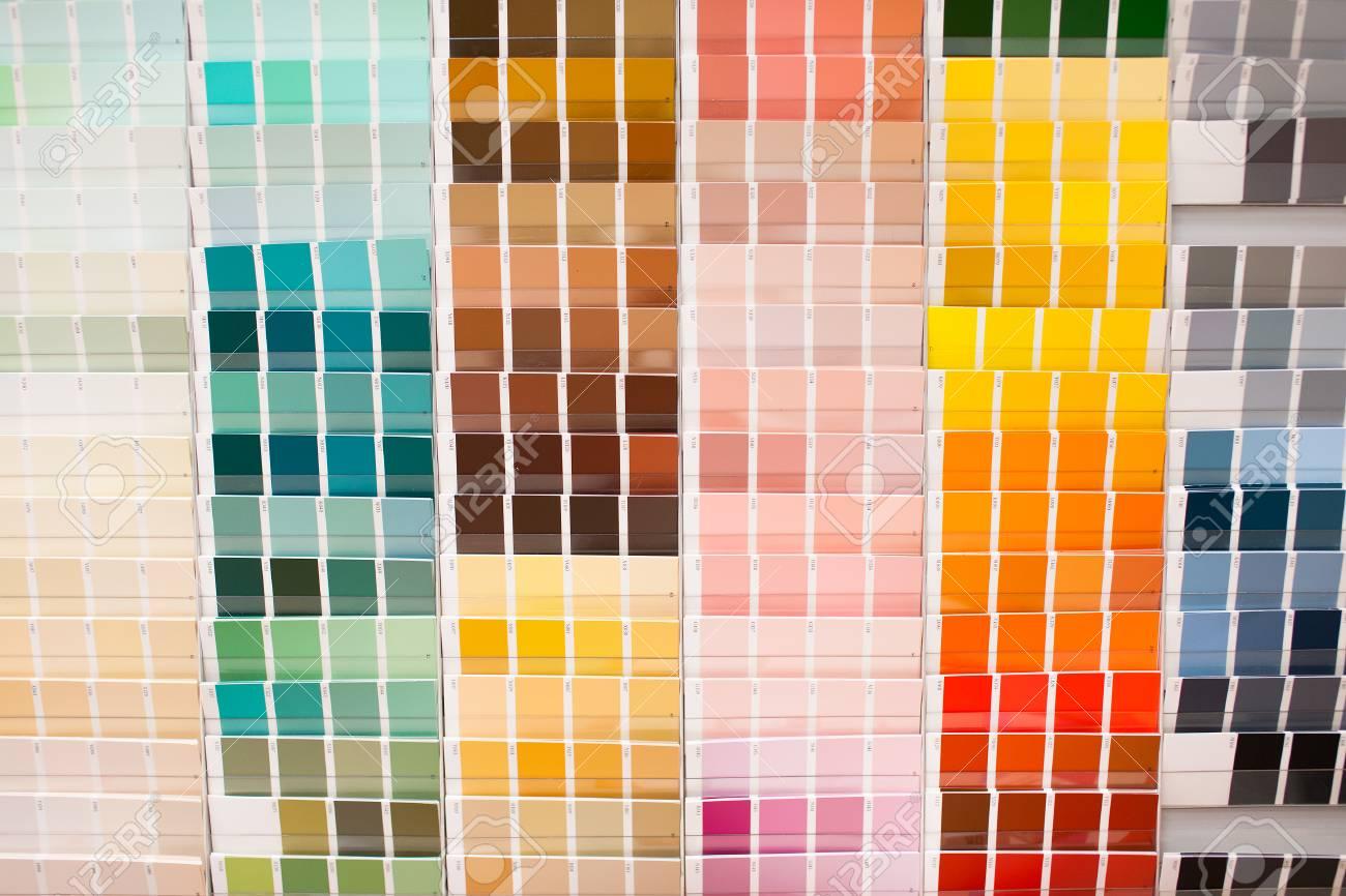 Farbpalette Mit Großen Spektrum Von Farben Lager Bild Lizenzfreie