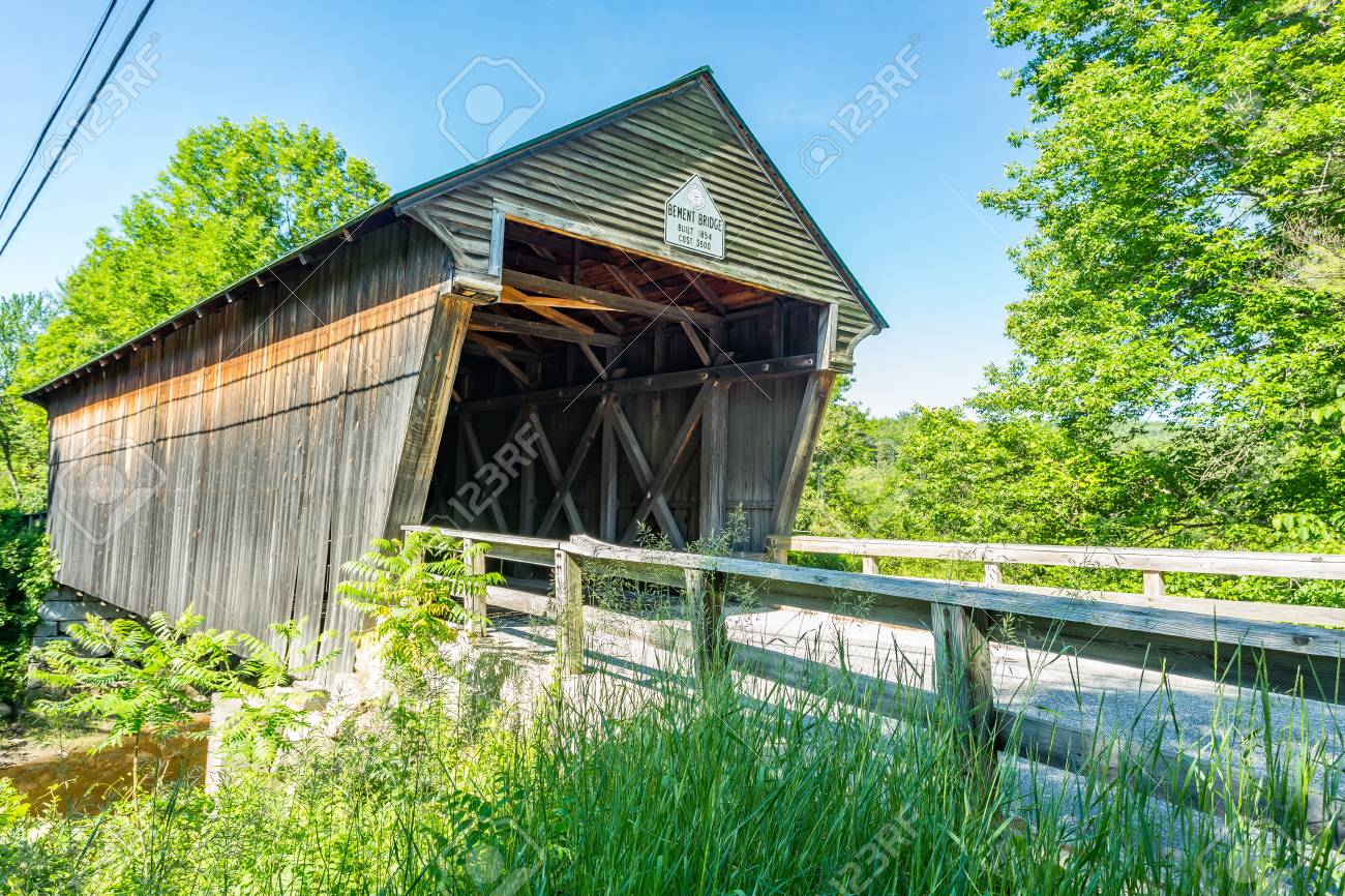 The Bement Covered Bridge A Long Truss Bridge Is A Historic
