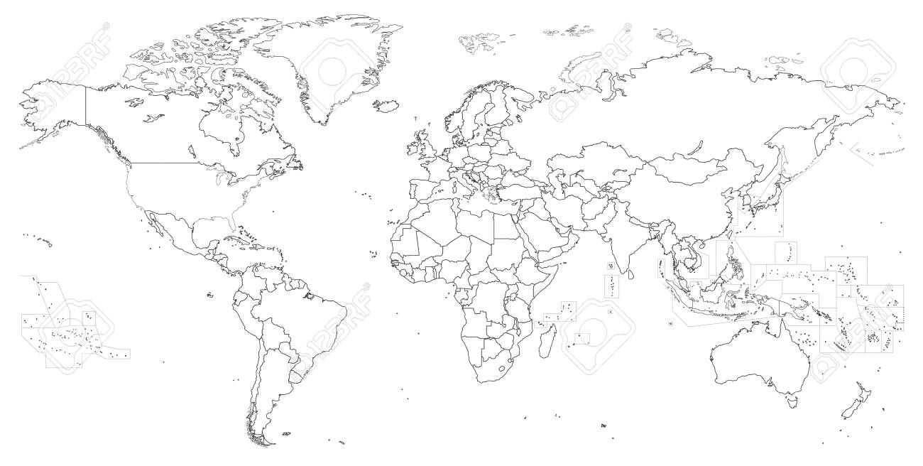 Vector outline of political world map royalty free cliparts vectors vector outline of political world map stock vector 84184640 gumiabroncs Choice Image