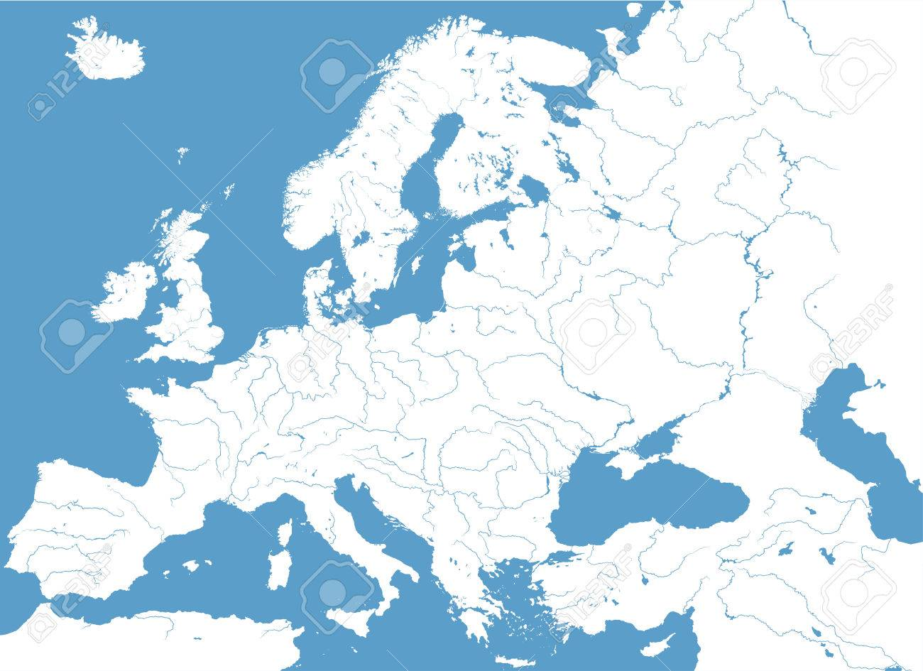 Detailed Map Of Europe on