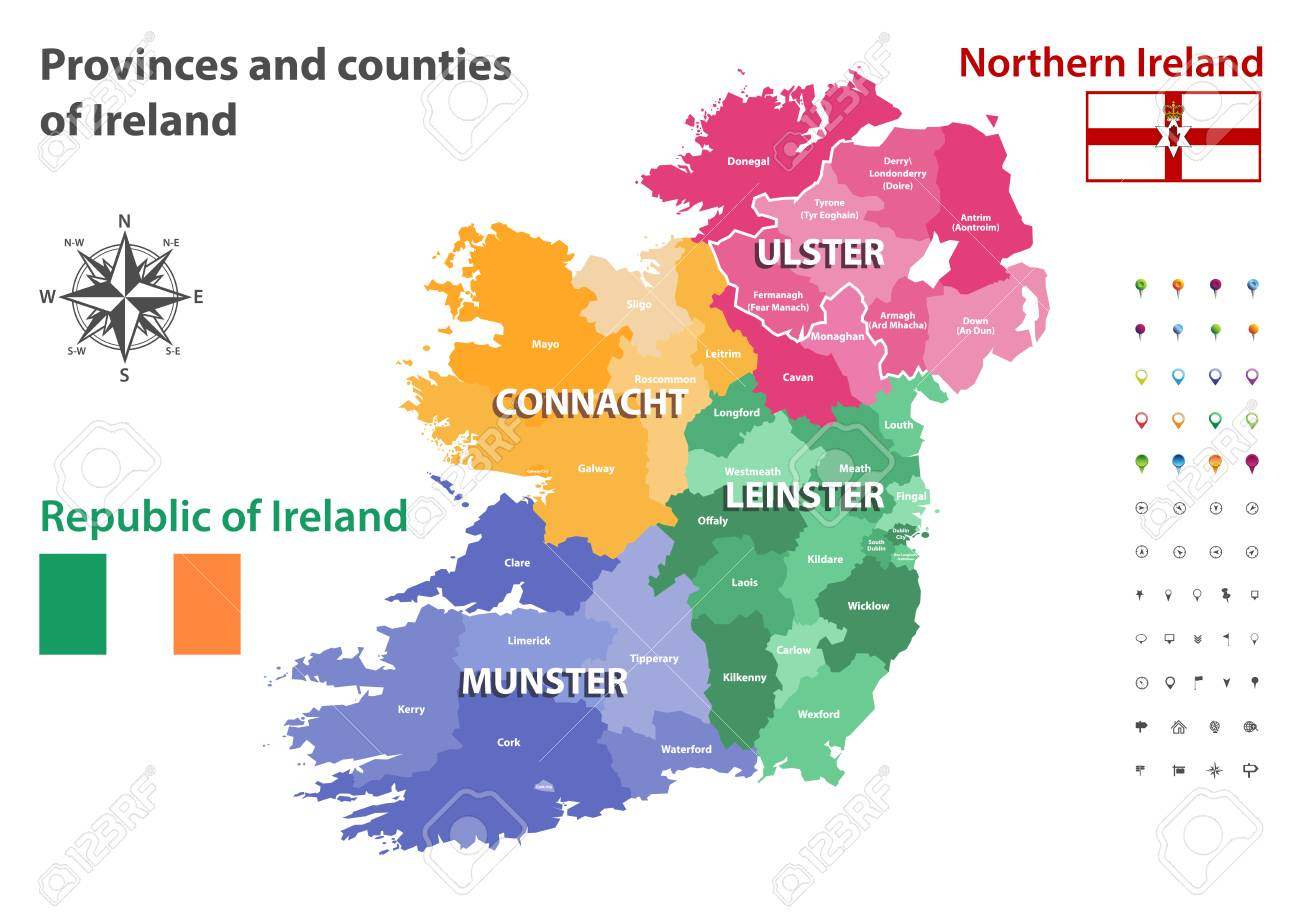 Map Of Ireland Counties And Provinces.Provinces And Counties Of Ireland