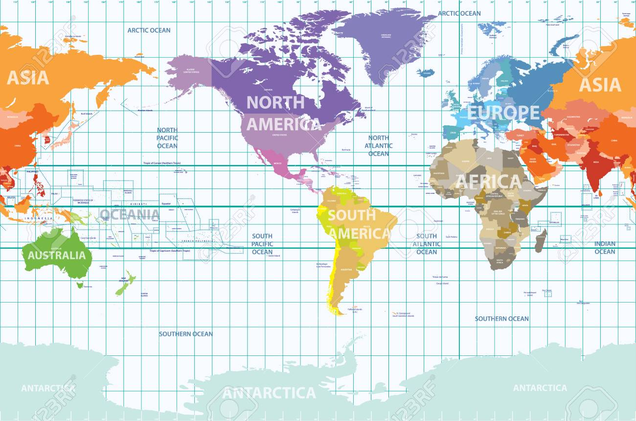 World Map Asia Centered.World Map Centered By America Royalty Free Cliparts Vectors And