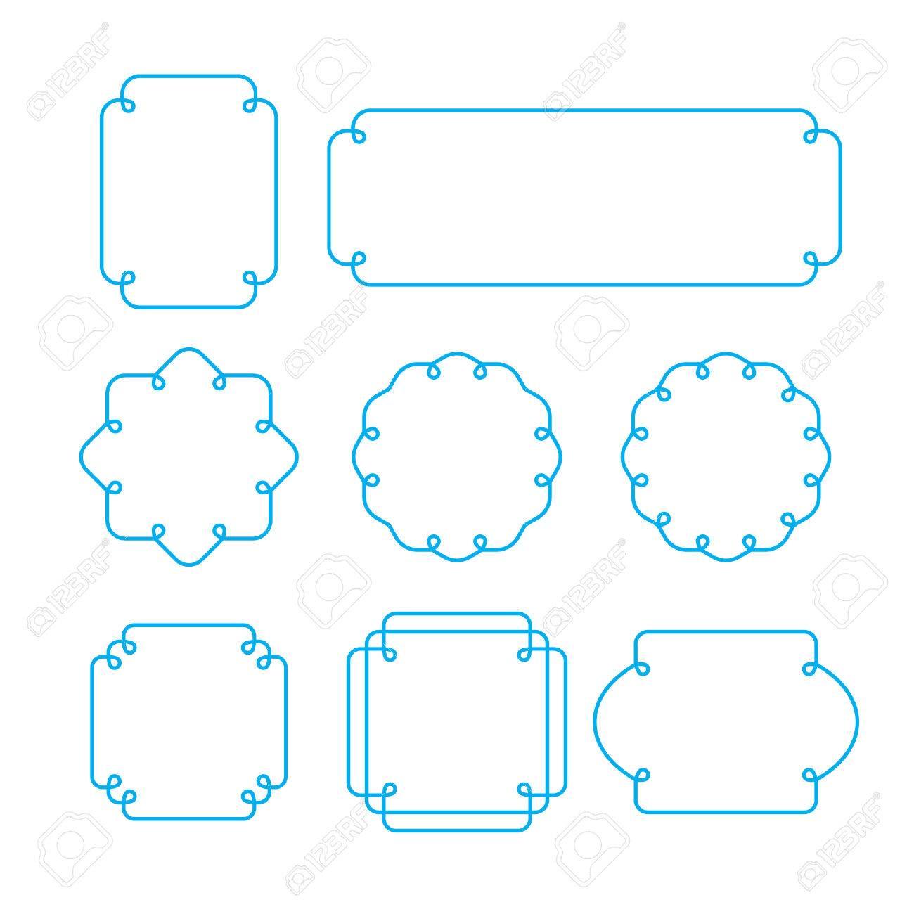 Vector set of outline frames shapes mono line graphic design vector set of outline frames shapes mono line graphic design templates stock vector 44229581 jeuxipadfo Images