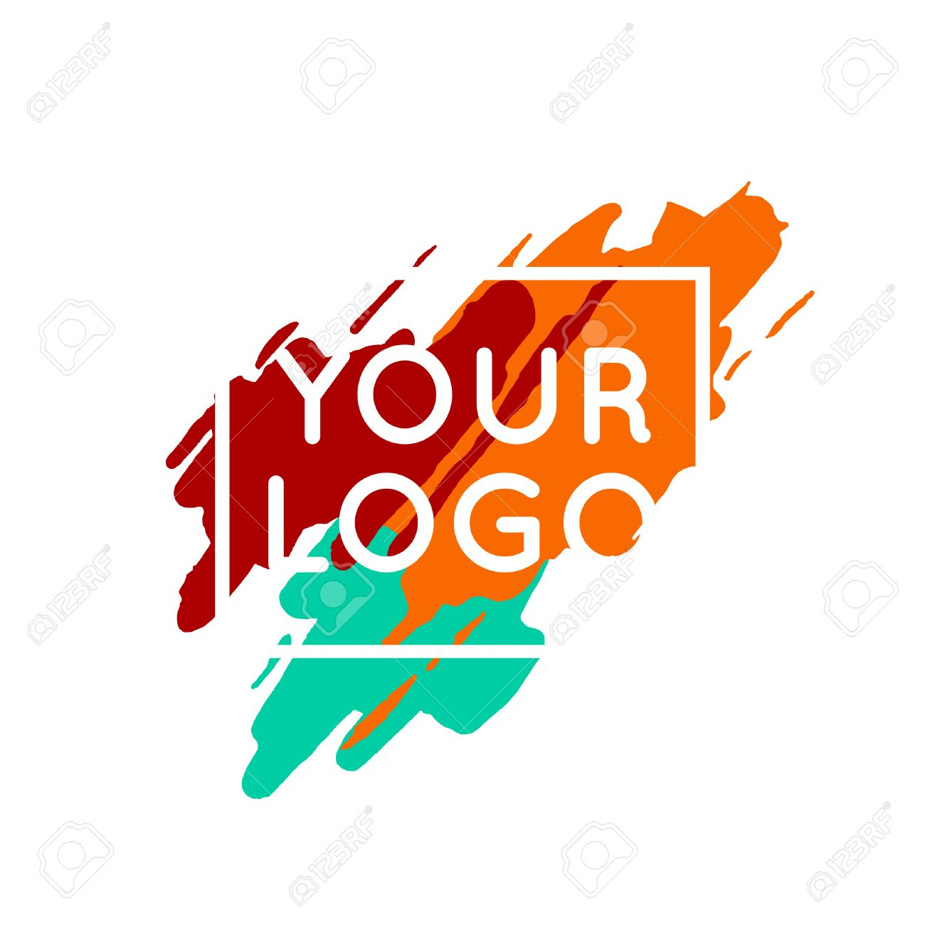 abstract colorful logo template concept vector paint splash rh 123rf com paint splash vector cdr paint splash vector free