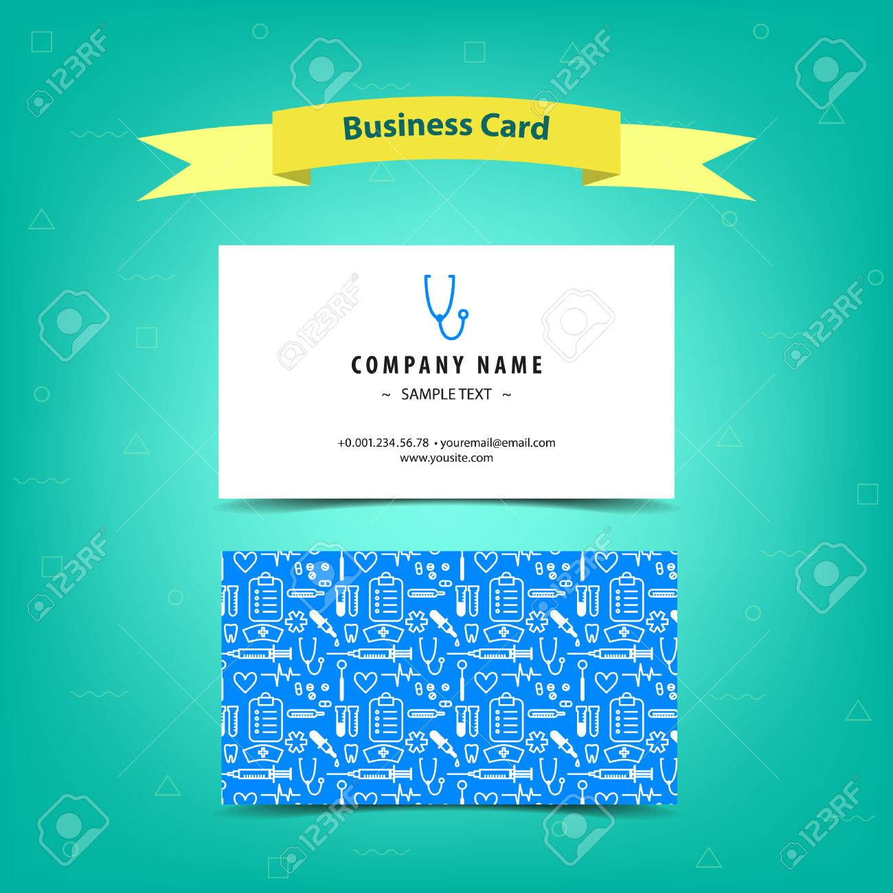 Medical Business Card For Doctors And Nurses, Template Design ...