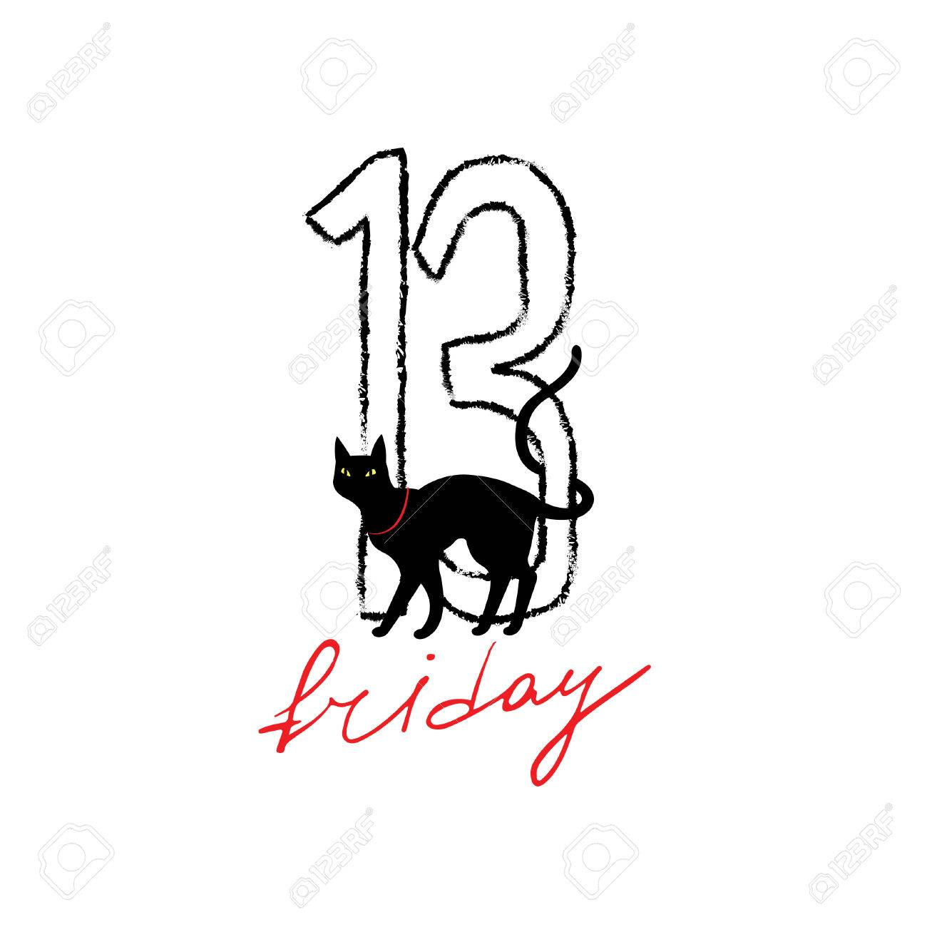 friday 13th grunge illustration with numerals and black cat rh 123rf com friday the 13th clip art images friday the 13th free clipart