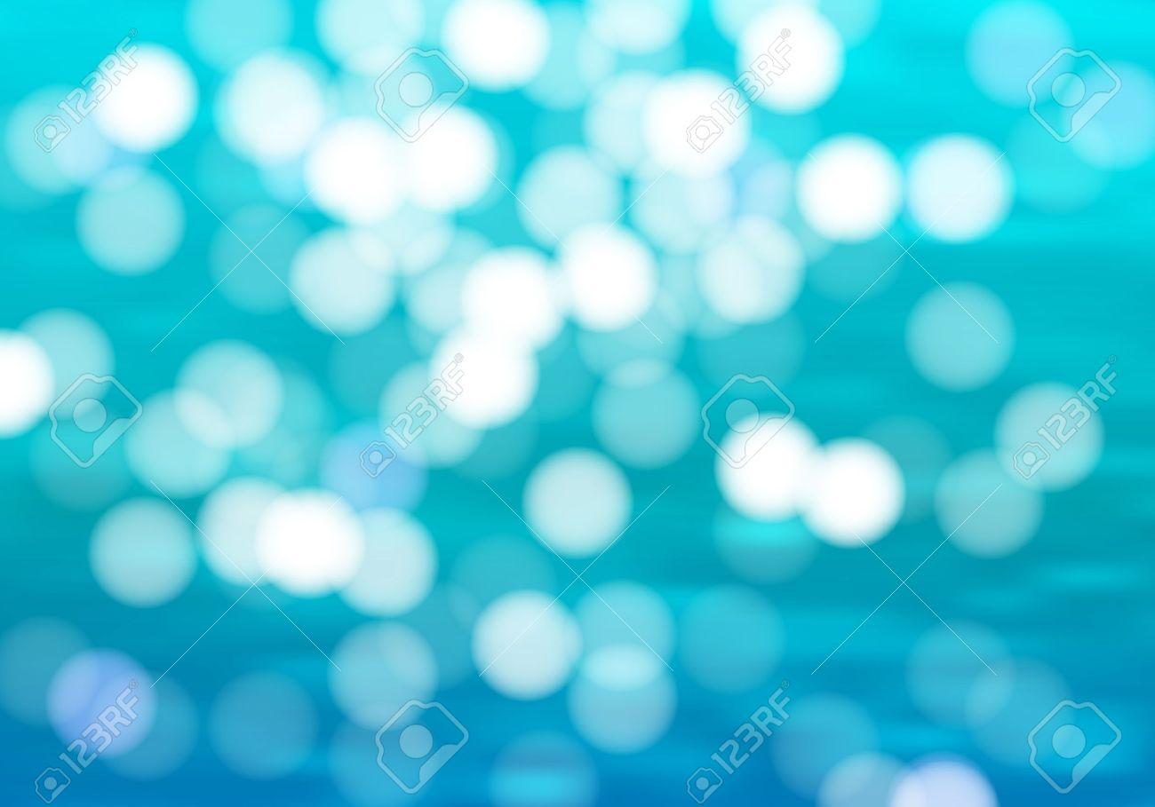 Blue Water Background With Bokeh Sunshine Ocean Vector Illustration