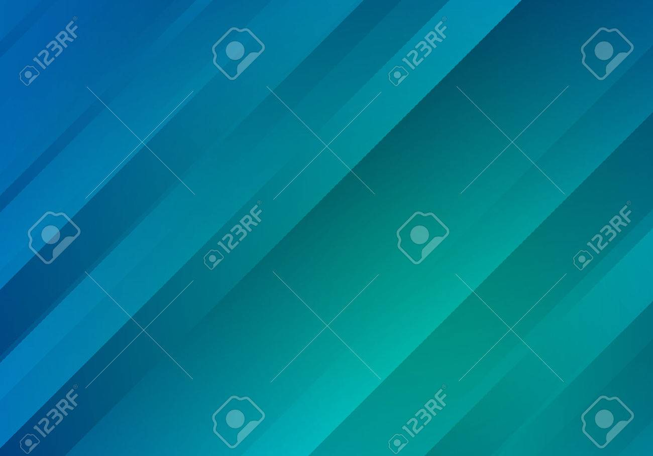 Blue and Green Background with Gradient Stripes. Abstract Geometric . Texture. - 53433894