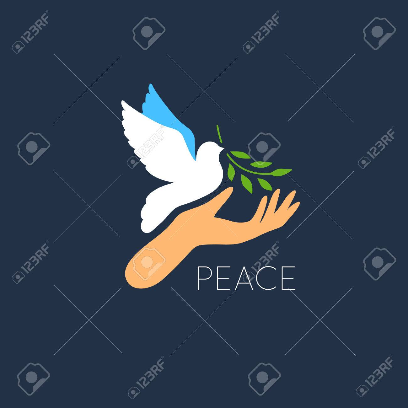 Dove peace symbol history choice image symbol and sign ideas white dove vector icon with olive branch and hand peace symbol white dove vector icon with biocorpaavc