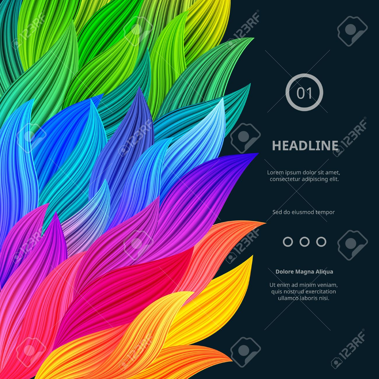 Awesome Bright Colorful Borders Vector Gradient Background