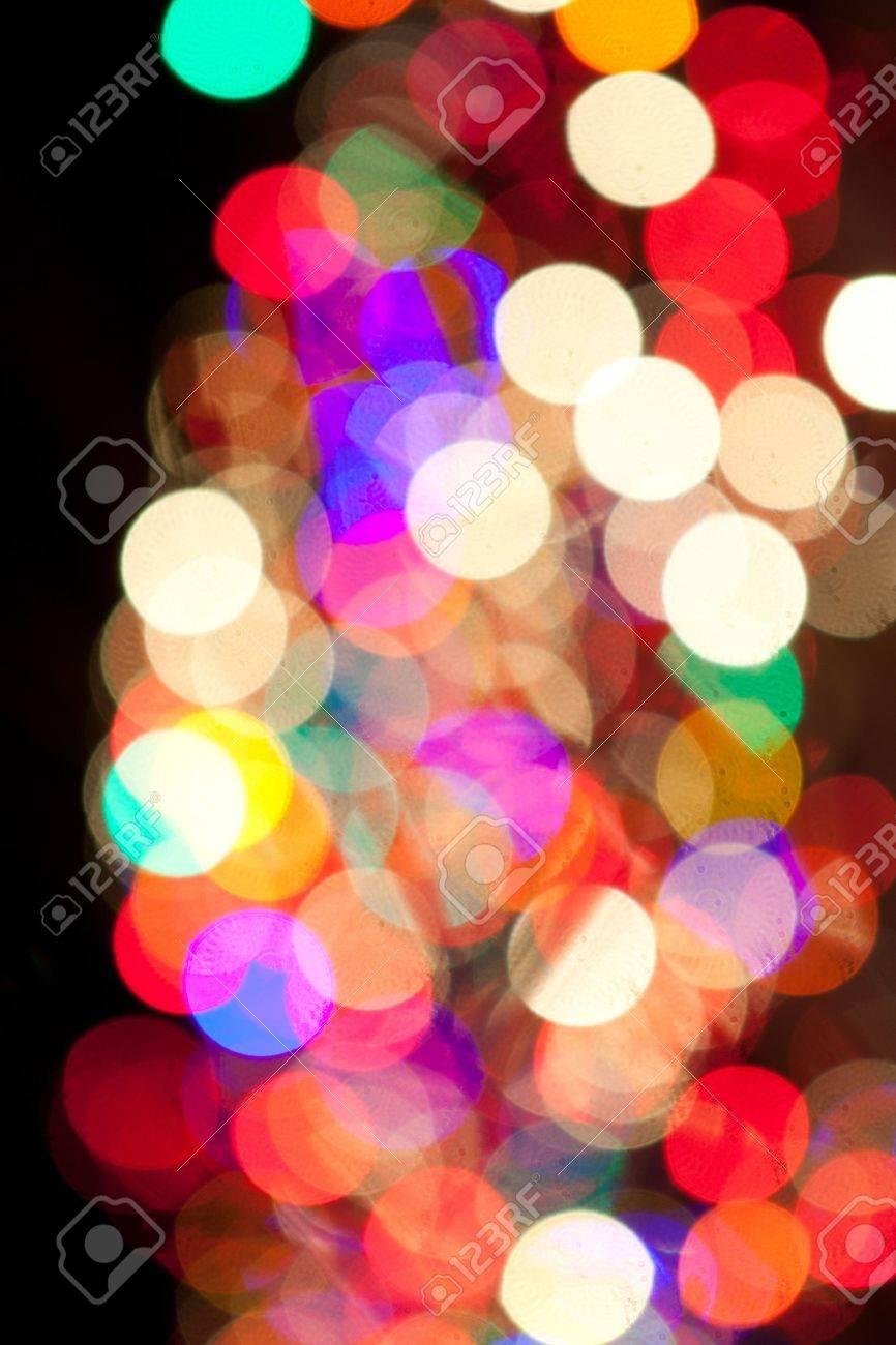 Red, Green, Yellow, Pink, Blue, Orange, Yellow Christmas Lights Bokeh Stock Photo - 17169592