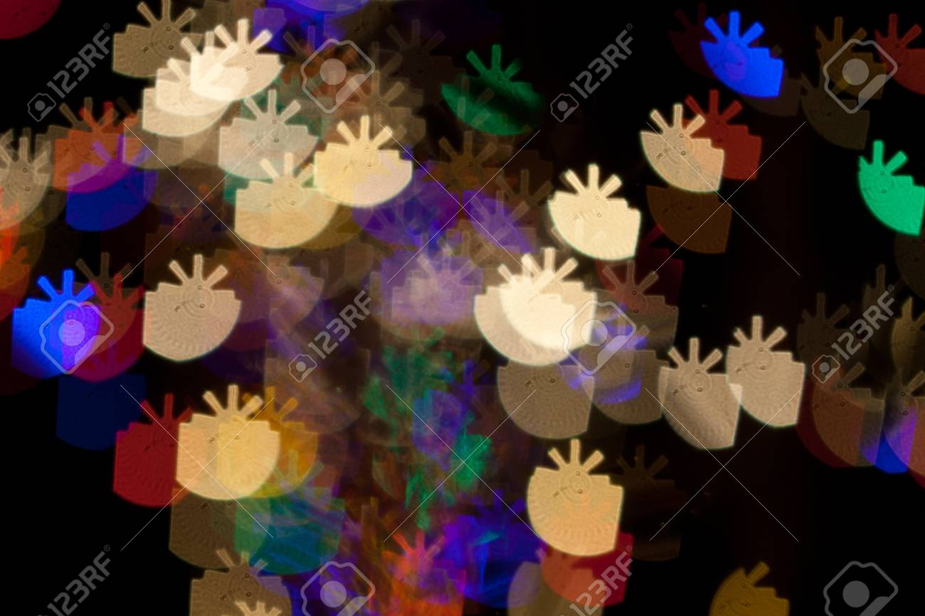Red, White, Blue, Green, Pink, Yellow Christmas Presents Lights Bokeh Stock Photo - 17169658