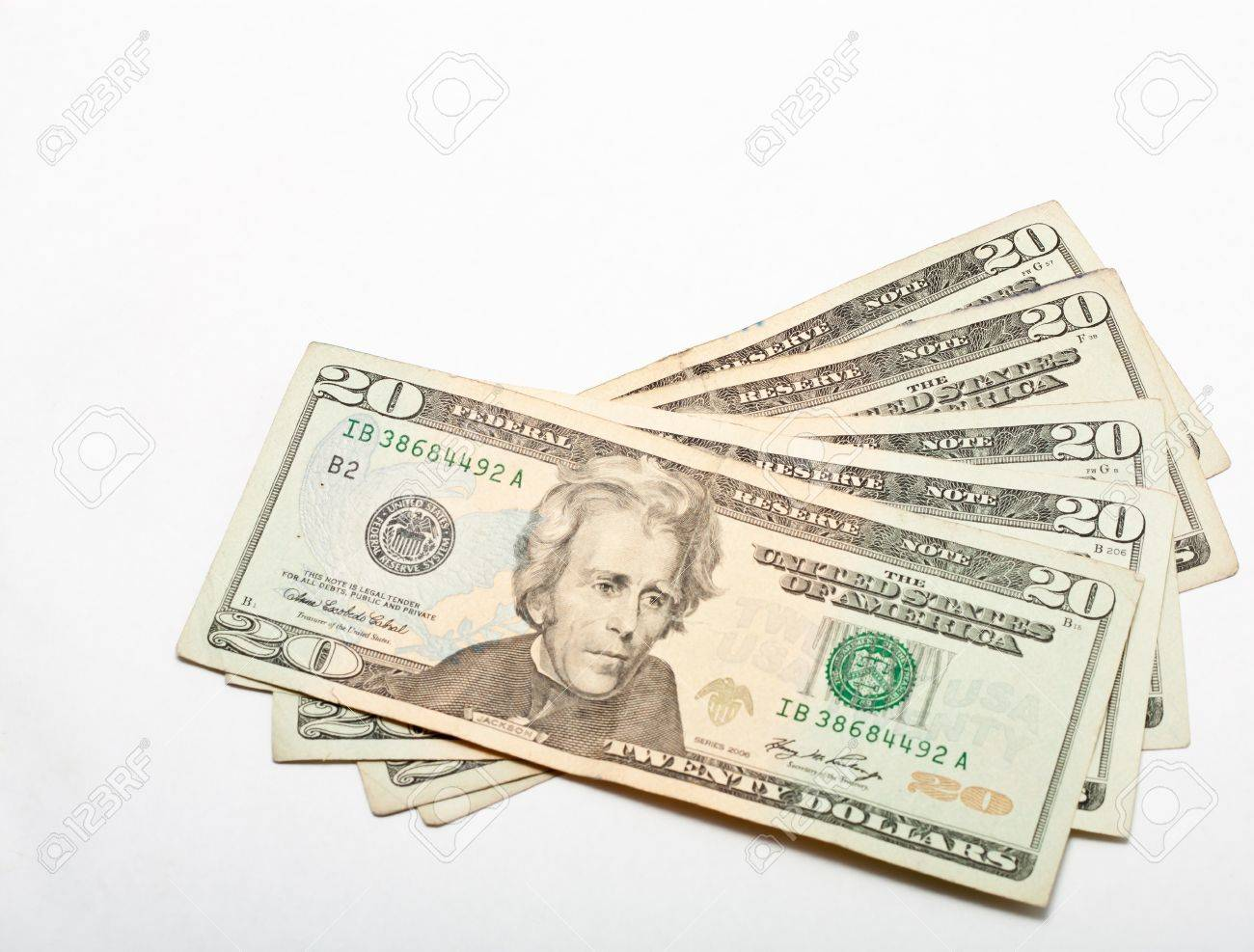 Twenty Dollar United States Currency Bill Stock Photo - 18809805