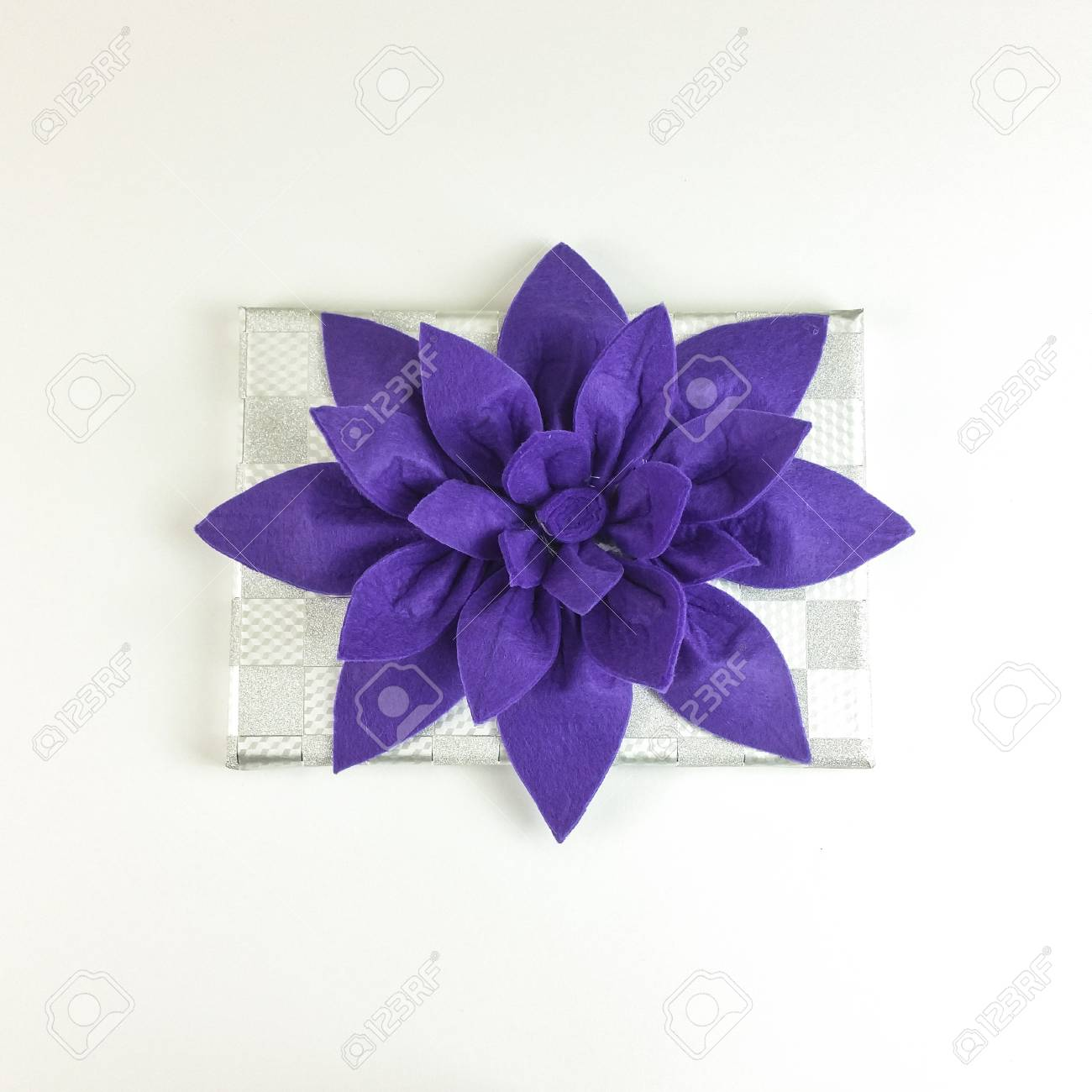 Homemade Felt Purple Flower Centerpiece With Cup Holders And Stock Photo Picture And Royalty Free Image Image 94969391