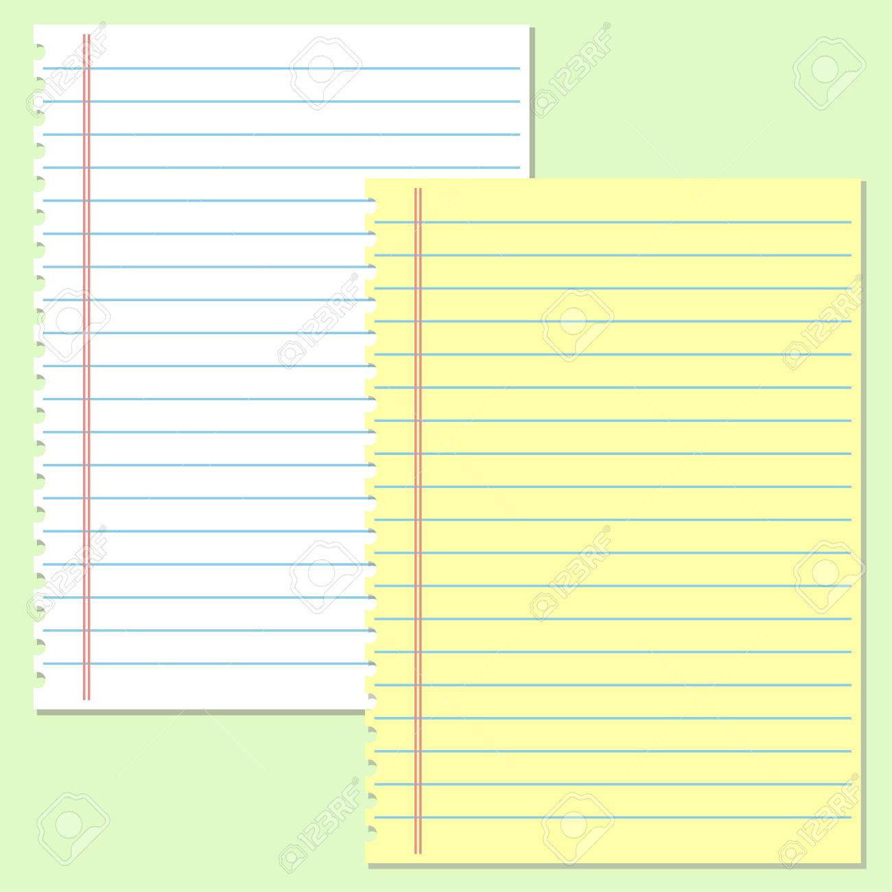 yellow and white lined paper. school notebook paper royalty free