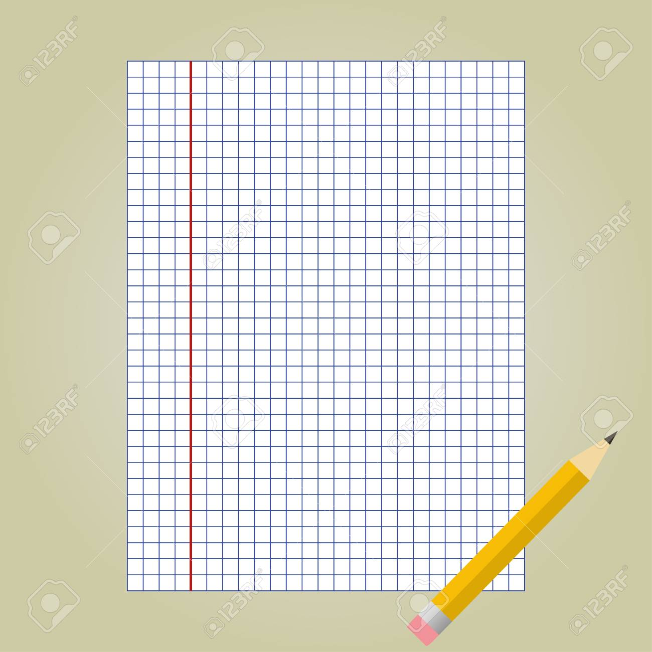 Notebook Paper And Pencil School Notebook Paper Royalty Free