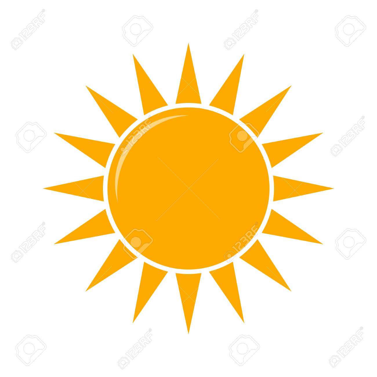 Weather forecast icon, vector. Sunny weather vector illustration - 123611402
