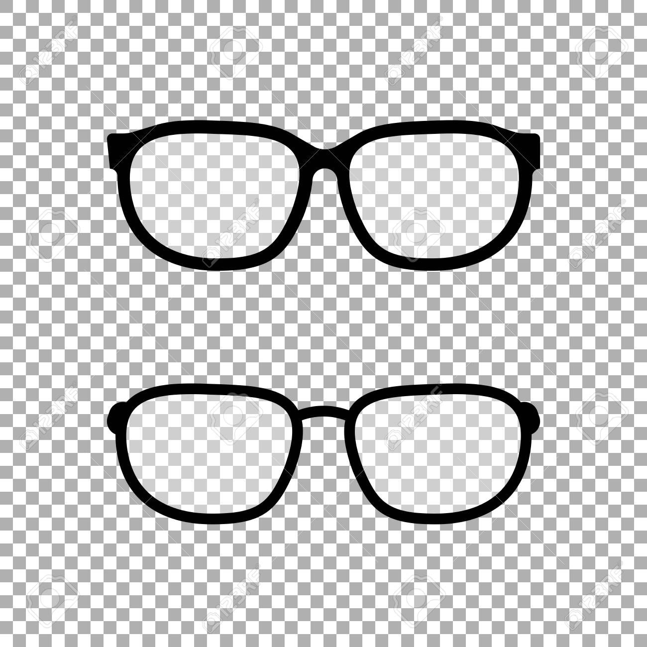 Glasses icon vector isolated on transparent background - 131646584