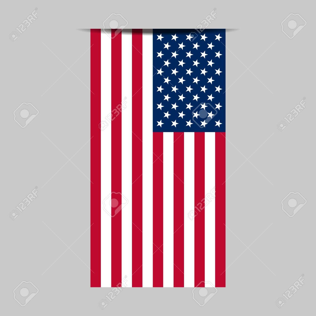 United States flag vector illustration. American flag icon - 138869671