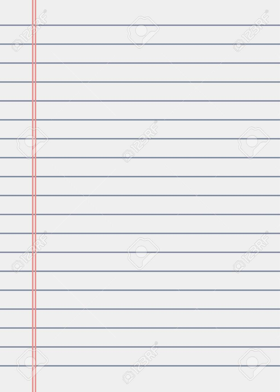 Notebook paper background. Lined paper vector illustration - 152043926