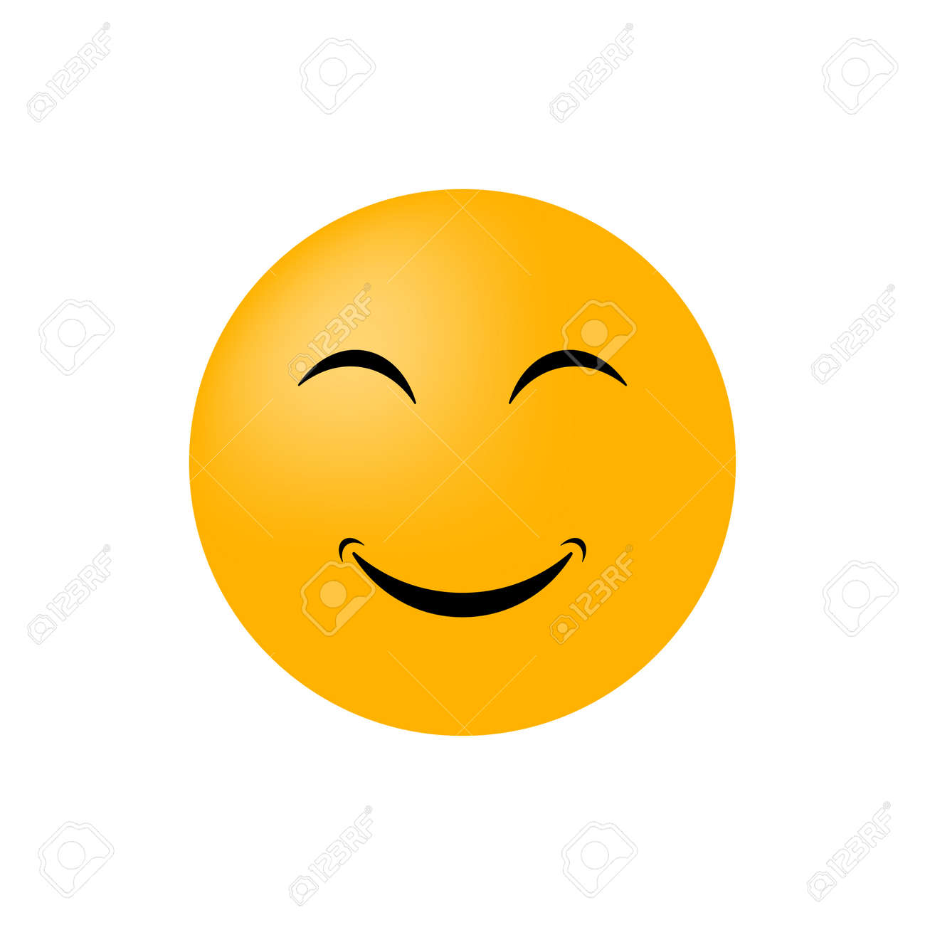 Emoticon face isolated on white background. Vector icon - 166275176