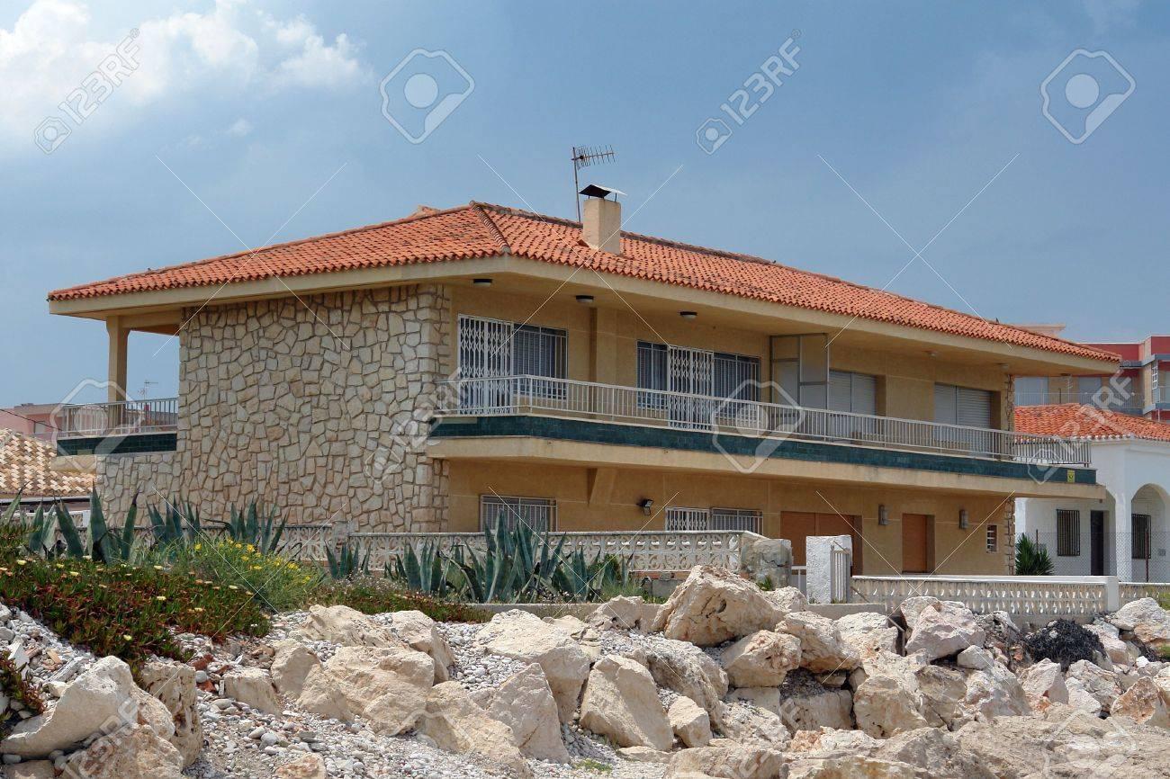 denia costa blanca spain typical beach house next to rh 123rf com