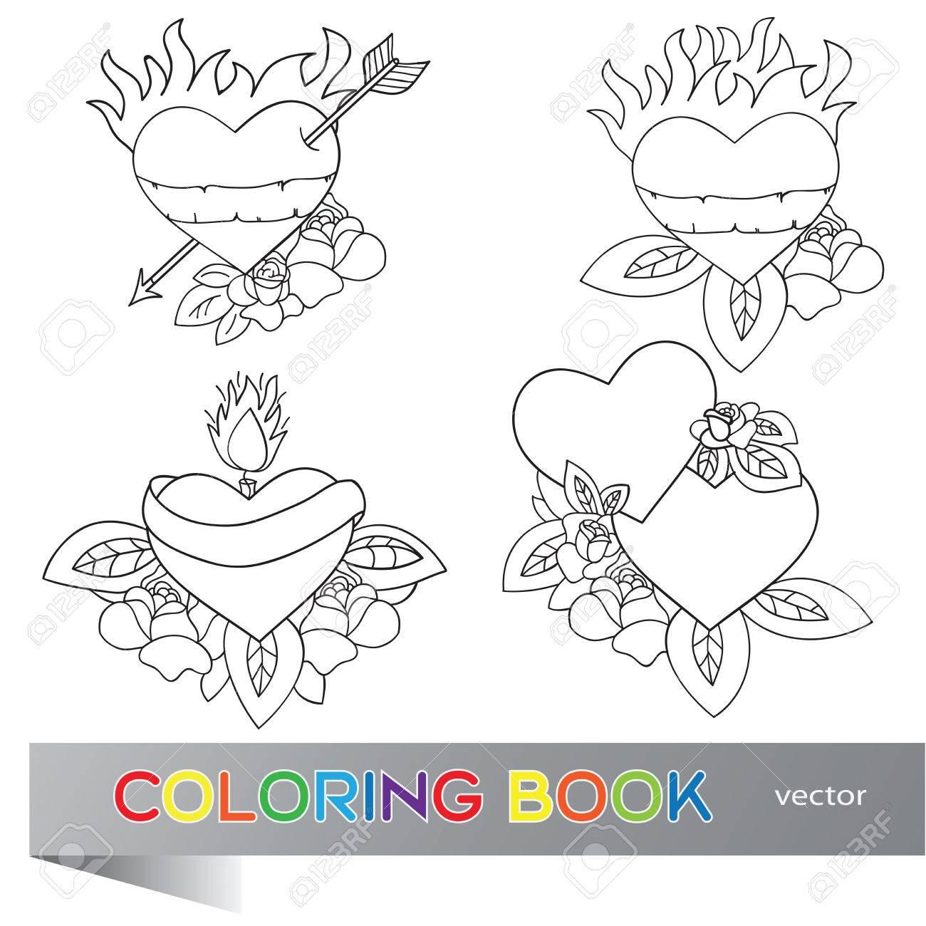 Corazón Del Tatuaje De Diseño - Conjunto De Flash - Libro Para ...