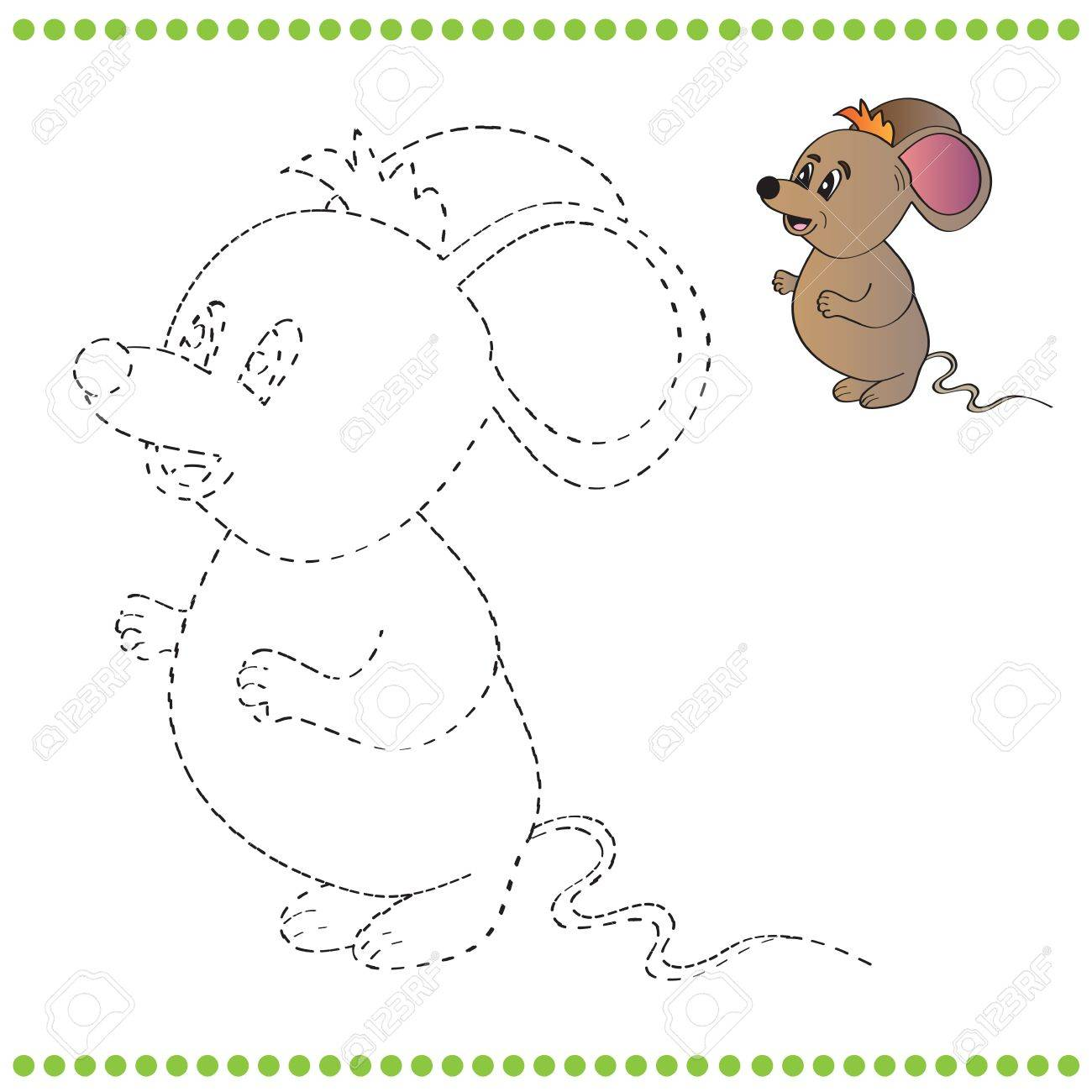 Connect The Dots And Coloring Page - Mouse Royalty Free Cliparts ...