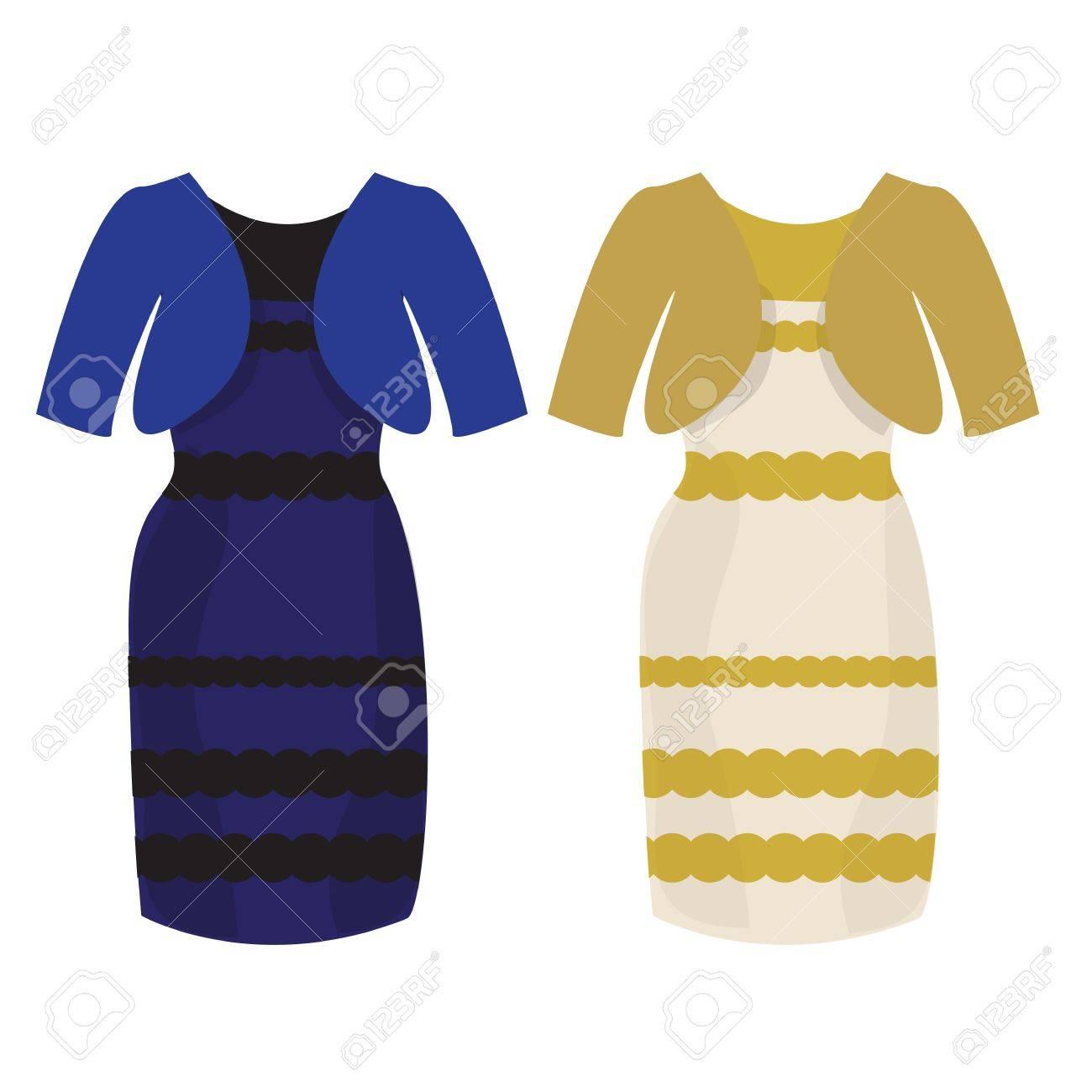Dress color gold white or black
