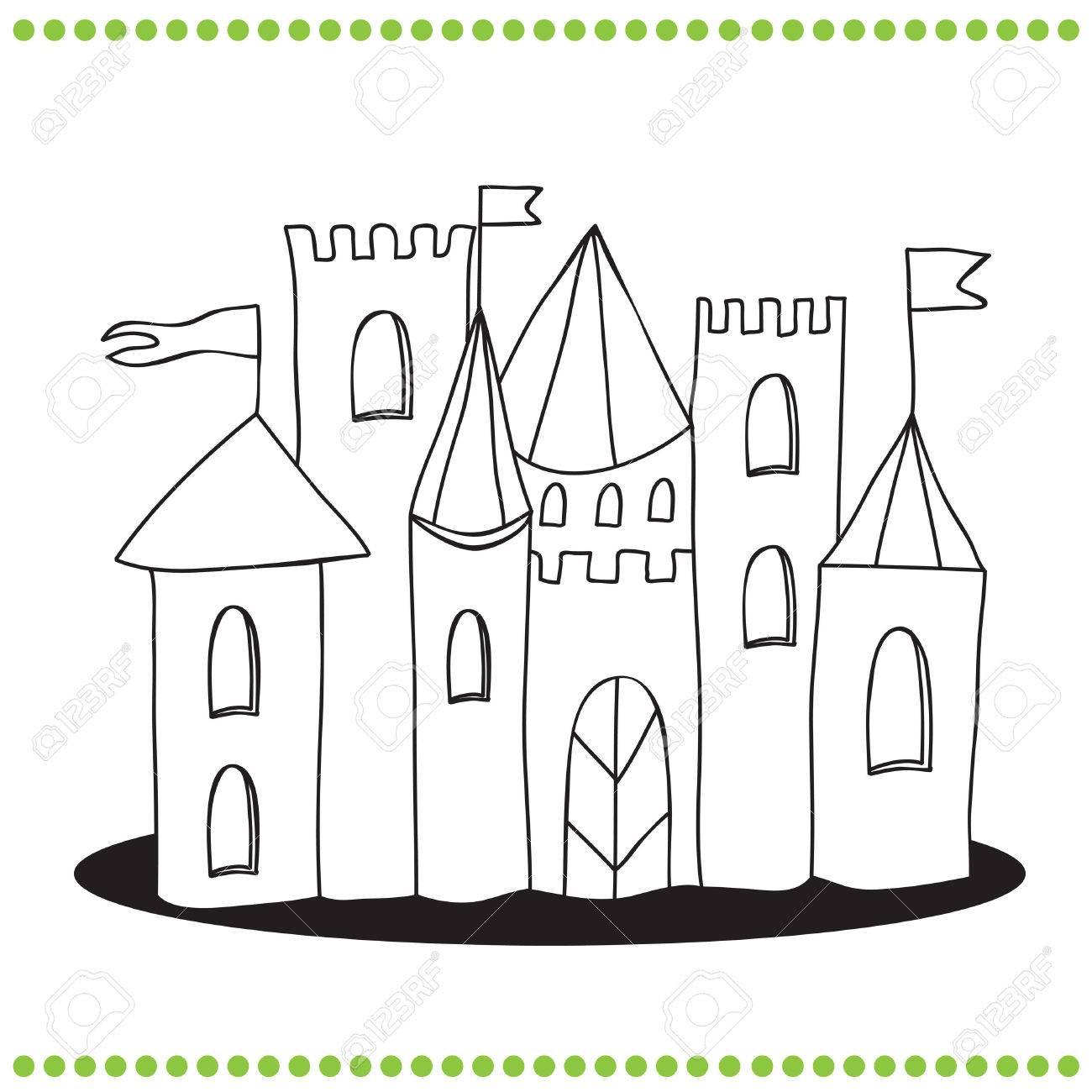 Moderno Castillo De Candyland Para Colorear Ornamento - Dibujos de ...