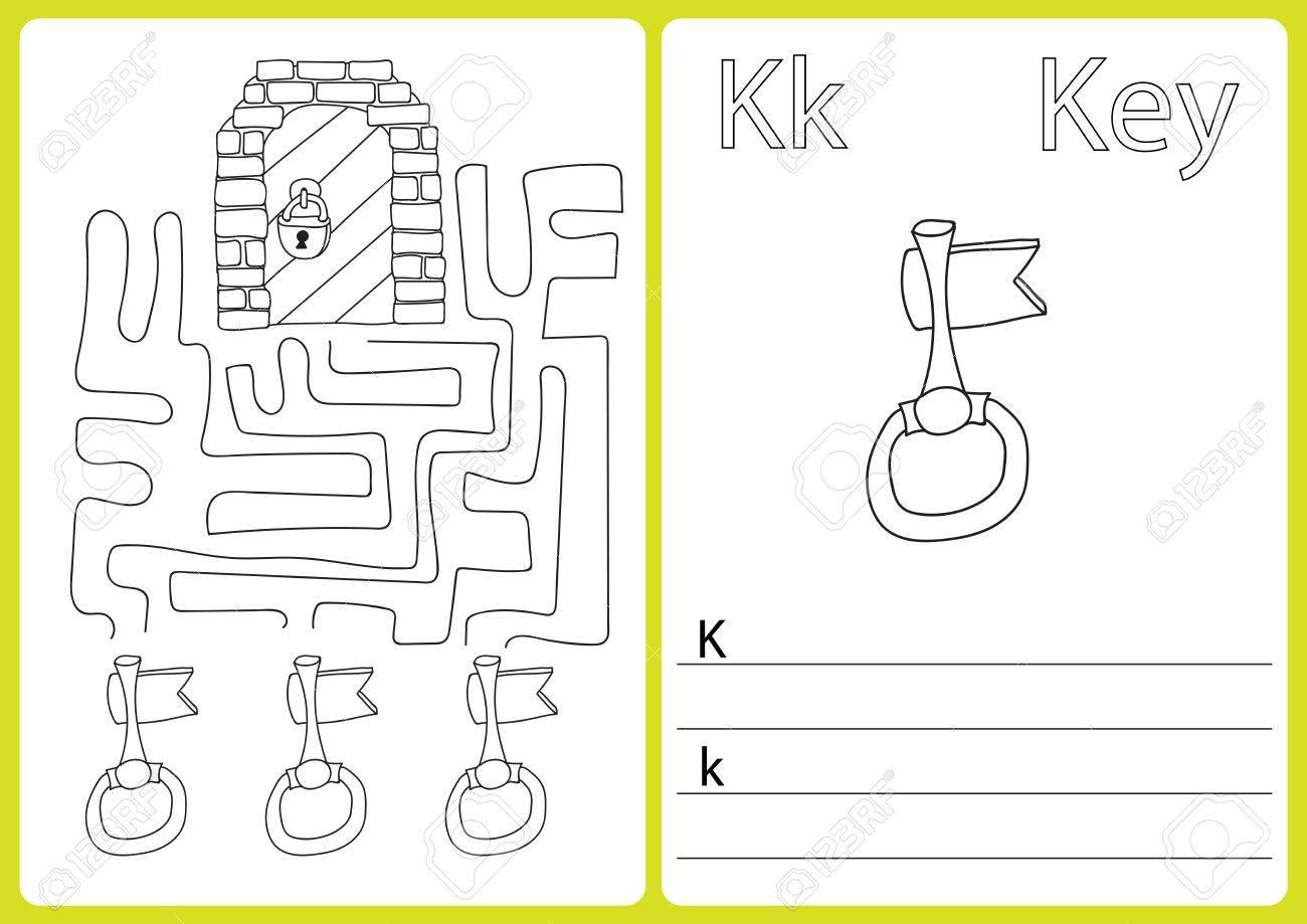 Alphabet AZ - Puzzle Arbeitsblatt, Übungen Für Kinder - Malbuch ...