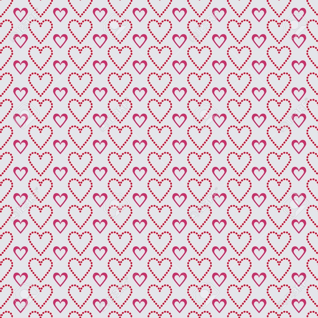 Vettoriale Un San Valentino Senza Soluzione Di Continuità Cuore E