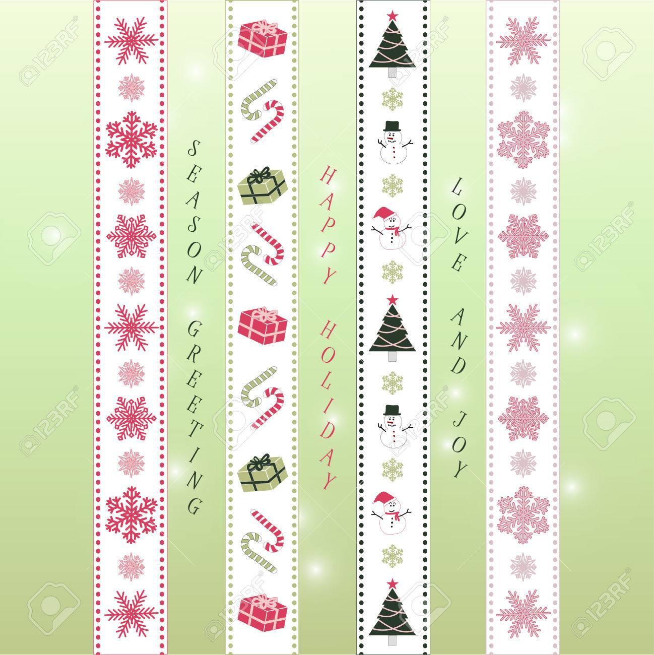 Frohe Weihnachten Band Washi Band Scrapbook Elemente In Rosa, Grün ...