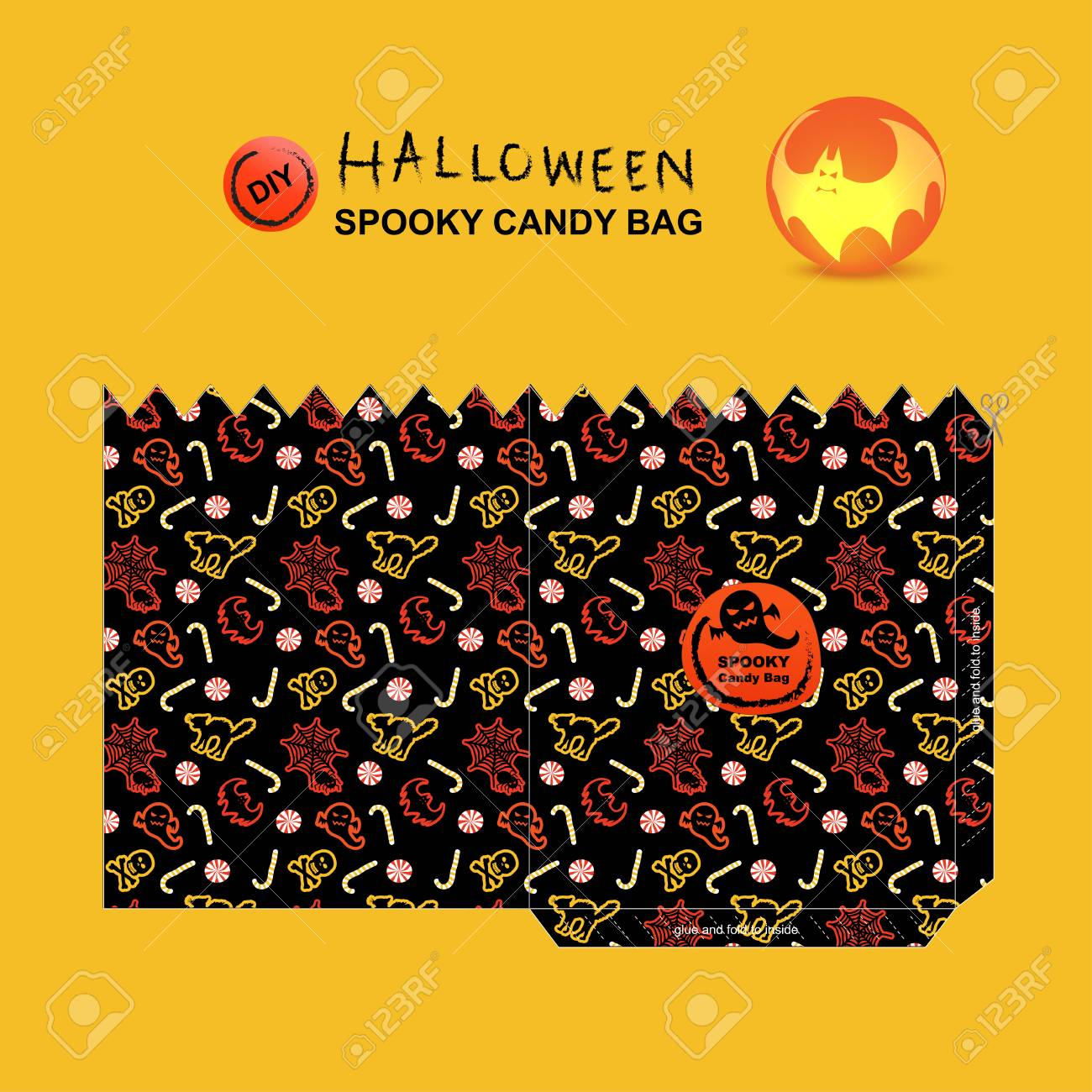 Diy Halloween Trick Or Treat Bags.A Diy Halloween Spooky Candy Bag And Trick Or Treat Candy Bag