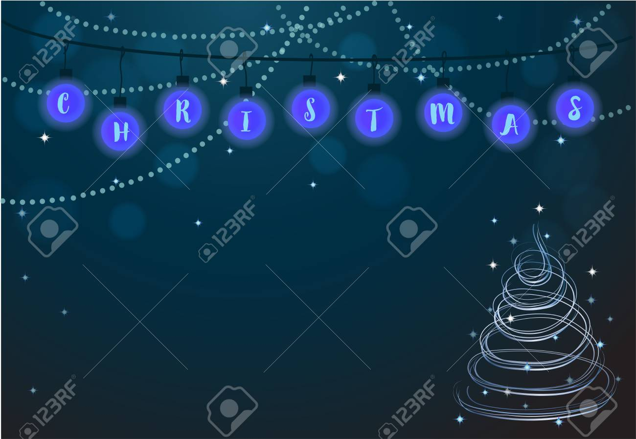 Helle Bälle Der Frohen Weihnachten, Schnur Beleuchtet ...