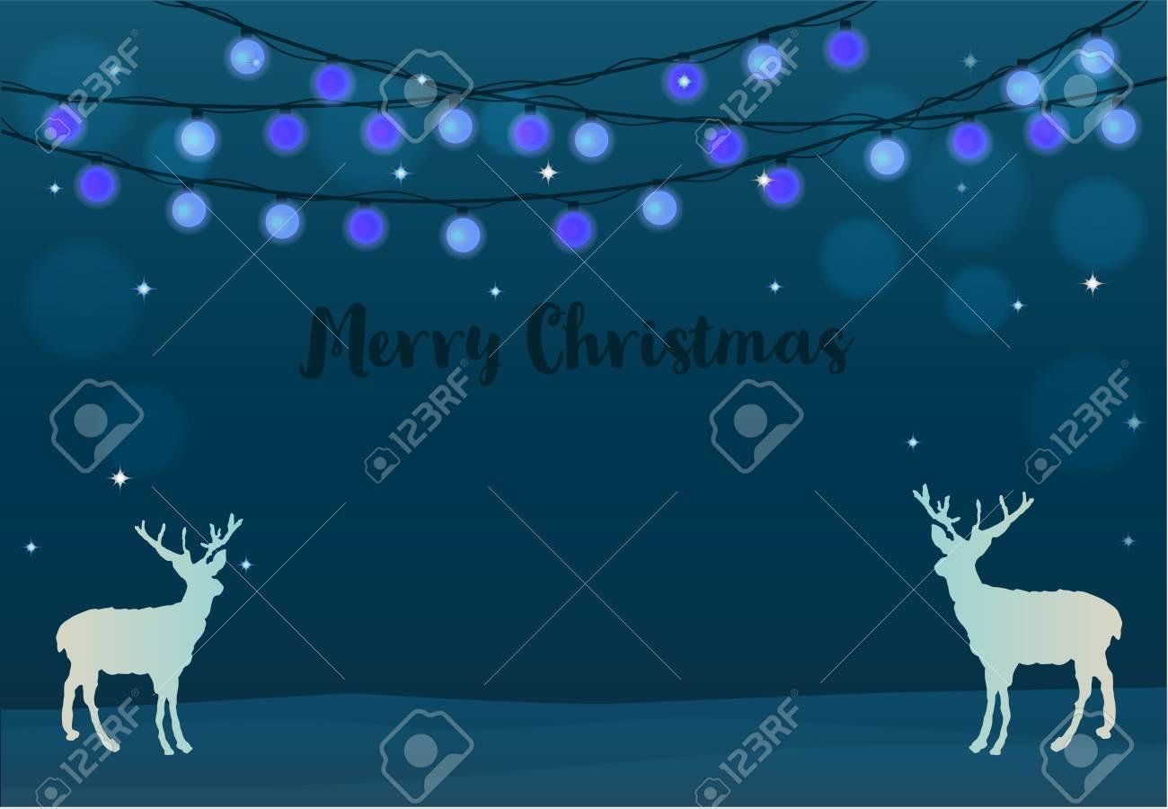 Christmas Light Balls.Merry Christmas Light Balls String Lights Background Text Letters