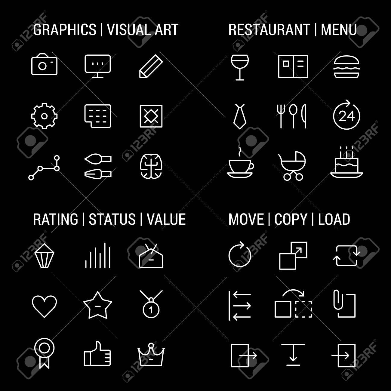 Iconos Conjuntos: Gráficos Y Las Artes Visuales, Menú Del ...