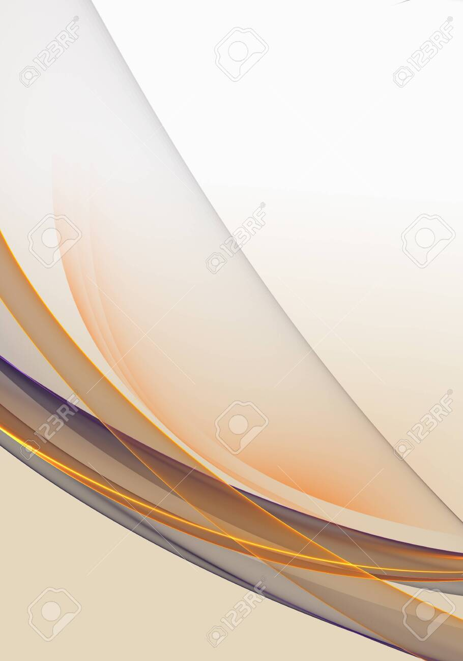 Abstract Background Waves White Grey And Orange Abstract Background