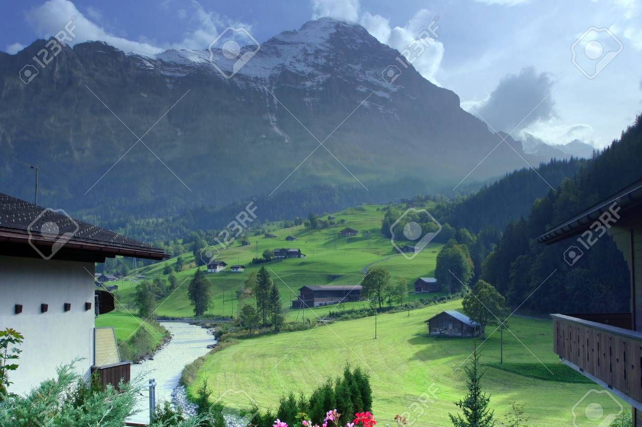 Grindelwald in Alps Stock Photo - 781328