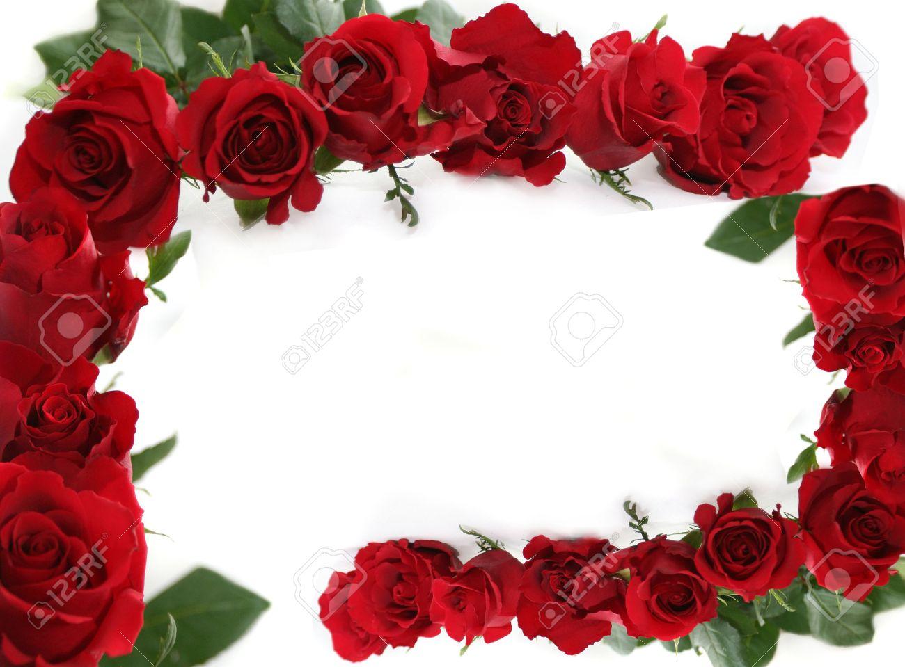 red roses making border framed isolated love letter horizontal background stock photo 902727