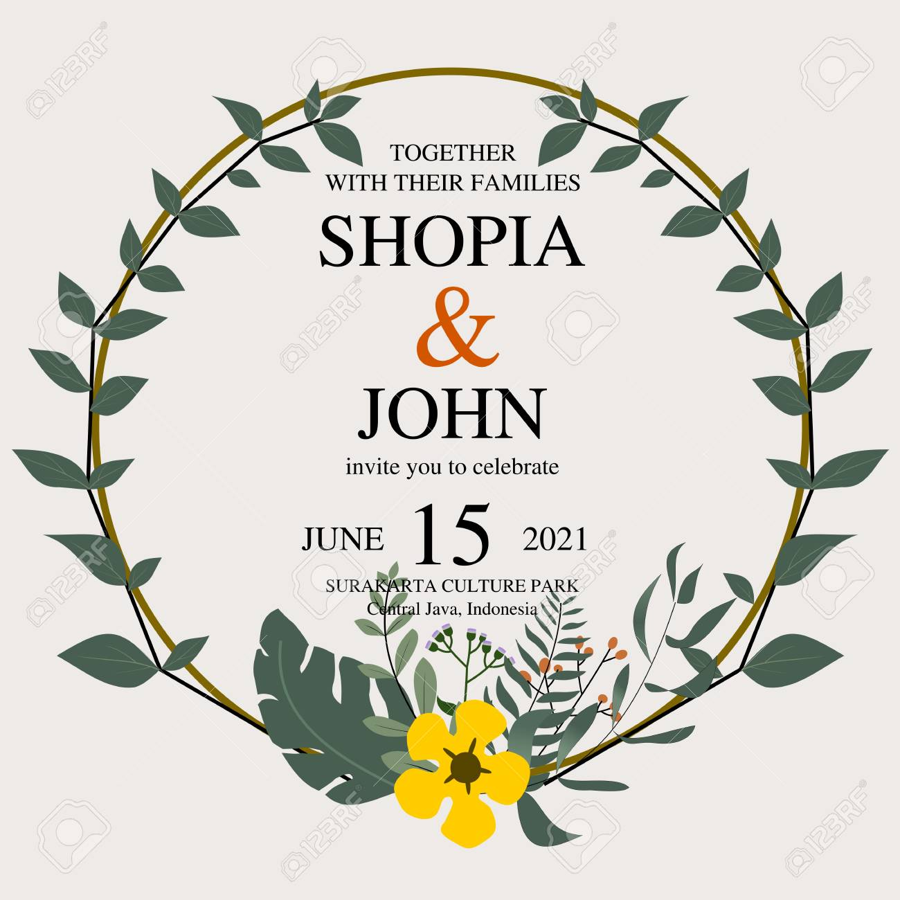 design wedding invitations with simple and charming natural themes