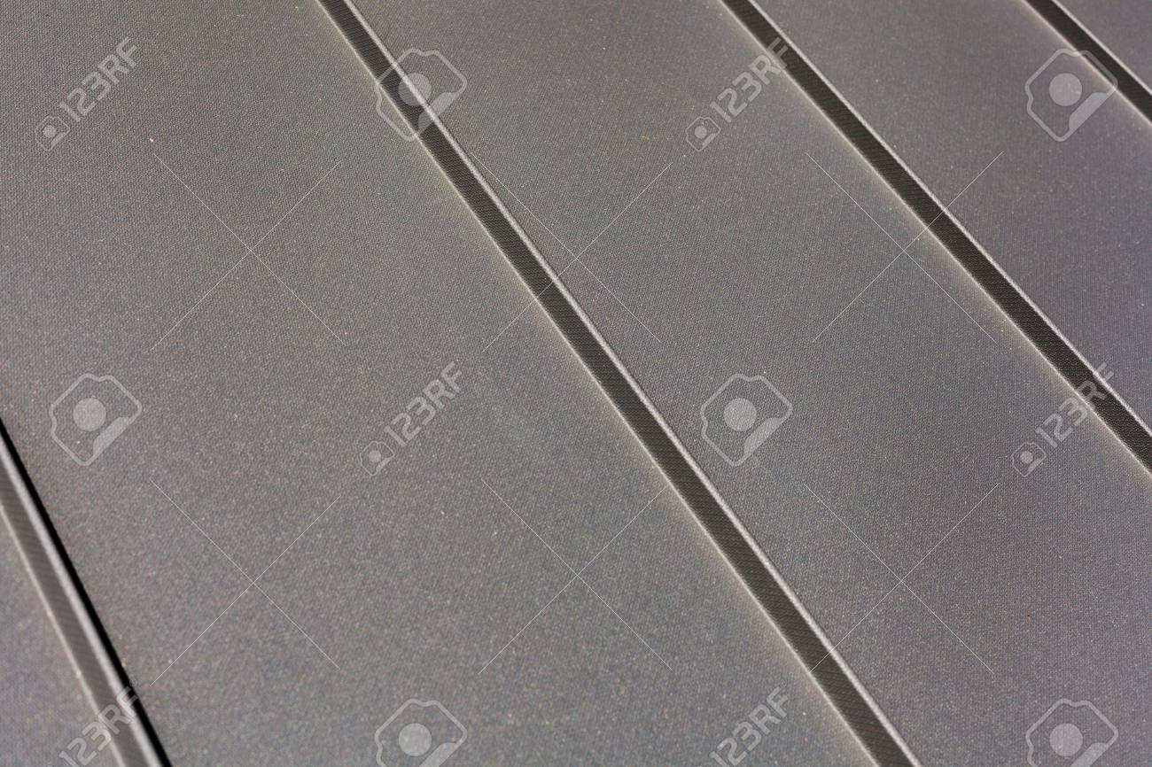 Close up roof sheet metal or corrugated roof of factory building or warehouse. - 88278879
