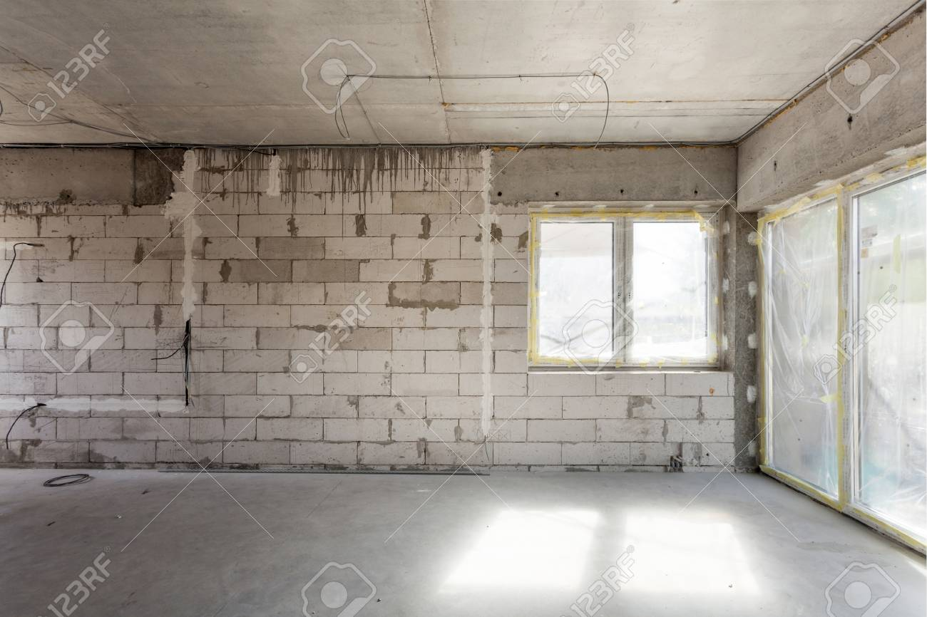 Wiring Under House Diagrams Data Base In Brick Wall New Construction Aerated Concrete Blocks Cement Rh 123rf Com At