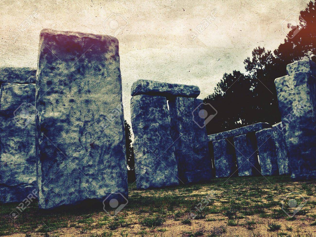 Down in Mobile theres this place called Bamahenge. Its a big fake Stonehenge make out of plastic. Still very cool. Stock Photo - 21176198