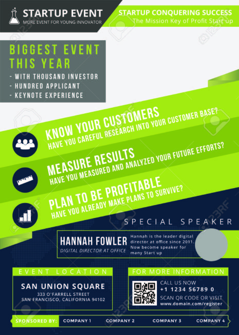 Startup Event Flyer Is The Modern Flyer For You To Invite People To The Startup Event