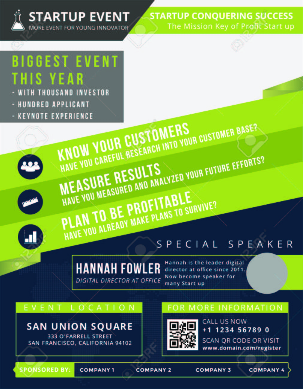 startup event flyer is the modern flyer for you to invite people