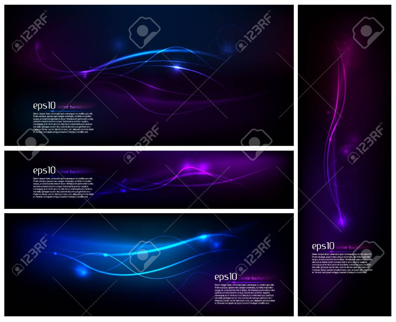 Set of Layouts / Abstract Design / Background Stock Vector - 11656899