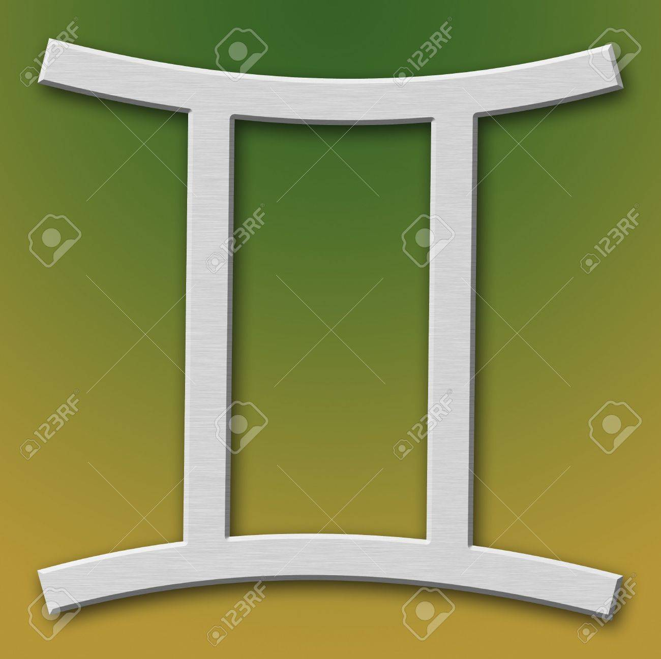 Gemini Aluminum Symbol on background degraded Stock Photo - 359308