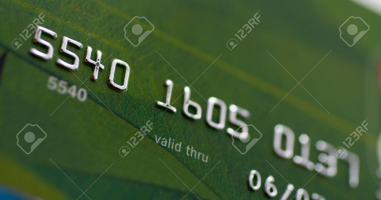 Macro shot of credit card. Shallow depth of Field Stock Photo - 446613