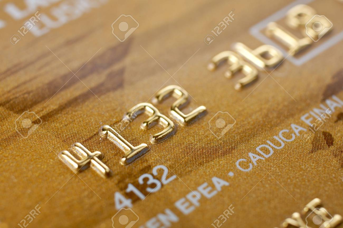 Macro shot of credit card. Selective focus and shallow depth of Field Stock Photo - 956592
